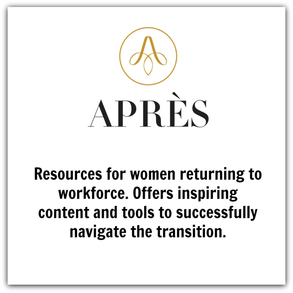 Apres - resources for women returning to workforce