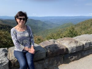 Carmie at Blue Ridge Parkway in North Carolina